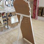 Vintage Madam Model Beyaz Renk Ayaklı Boy Aynası-18