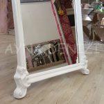 Vintage Madam Model Beyaz Renk Ayaklı Boy Aynası-19