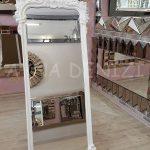 Vintage Madam Model Beyaz Renk Ayaklı Boy Aynası-5