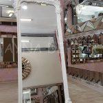 Vintage Madam Model Beyaz Renk Ayaklı Boy Aynası-6
