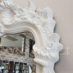 Vintage Madam Model Beyaz Renk Boy Aynası-10