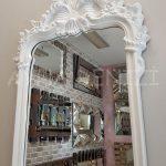 Vintage Madam Model Beyaz Renk Boy Aynası-11