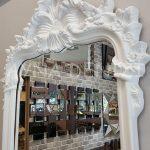 Vintage Madam Model Beyaz Renk Boy Aynası-15