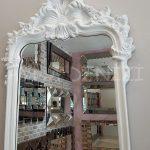 Vintage Madam Model Beyaz Renk Boy Aynası-16