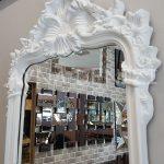 Vintage Madam Model Beyaz Renk Boy Aynası-17
