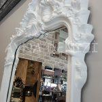 Vintage Madam Model Beyaz Renk Boy Aynası-18