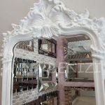 Vintage Madam Model Beyaz Renk Boy Aynası-19