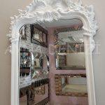 Vintage Madam Model Beyaz Renk Boy Aynası-9