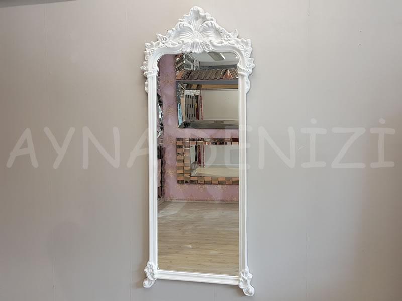 Vintage Madam Model Beyaz Renk Boy Aynası