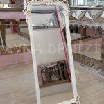 Vintage Madam Model Eskitme Beyaz Renk Ayaklı Boy Aynası-10