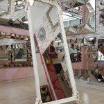 Vintage Madam Model Eskitme Beyaz Renk Ayaklı Boy Aynası-11