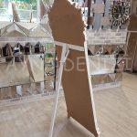 Vintage Madam Model Eskitme Beyaz Renk Ayaklı Boy Aynası-12