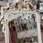 Vintage Madam Model Eskitme Beyaz Renk Ayaklı Boy Aynası-15