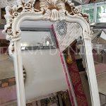 Vintage Madam Model Eskitme Beyaz Renk Ayaklı Boy Aynası-16