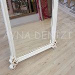 Vintage Madam Model Eskitme Beyaz Renk Ayaklı Boy Aynası-17