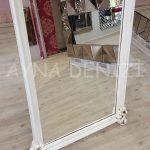 Vintage Madam Model Eskitme Beyaz Renk Ayaklı Boy Aynası-18