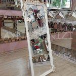 Vintage Madam Model Eskitme Beyaz Renk Ayaklı Boy Aynası-7