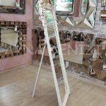 Vintage Madam Model Eskitme Beyaz Renk Ayaklı Boy Aynası-8