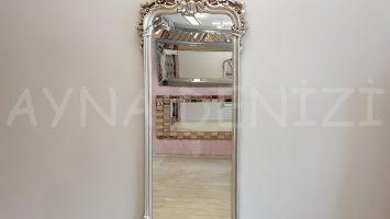 Vintage Madam Model Gümüş Renk Boy Aynası