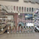 Akustik White Small Silver Model Beyaz Şeffaf Renk Modern Ayna-1