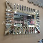 Akustik White Small Silver Model Beyaz Şeffaf Renk Modern Ayna-12