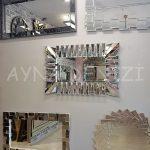 Akustik White Small Silver Model Beyaz Şeffaf Renk Modern Ayna-13