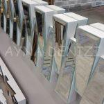 Akustik White Small Silver Model Beyaz Şeffaf Renk Modern Ayna-15