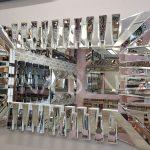 Akustik White Small Silver Model Beyaz Şeffaf Renk Modern Ayna-2