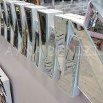 Akustik White Small Silver Model Beyaz Şeffaf Renk Modern Ayna-22