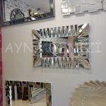 Akustik White Small Silver Model Beyaz Şeffaf Renk Modern Ayna-5