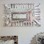 Akustik White Small Silver Model Beyaz Şeffaf Renk Modern Ayna-7