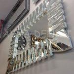 Akustik White Small Silver Model Beyaz Şeffaf Renk Modern Ayna-9