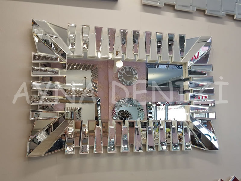 Akustik White Small Silver Model Beyaz Şeffaf Renk Modern Ayna