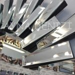 Güneş Piyano Black Silver Model Siyah Şeffaf Renk Modern Ayna-14