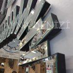 Güneş Piyano Black Silver Model Siyah Şeffaf Renk Modern Ayna-17