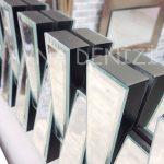 Güneş Piyano Black Silver Model Siyah Şeffaf Renk Modern Ayna-18