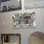 Hipnoz Small Silver Model Modern Ayna-12