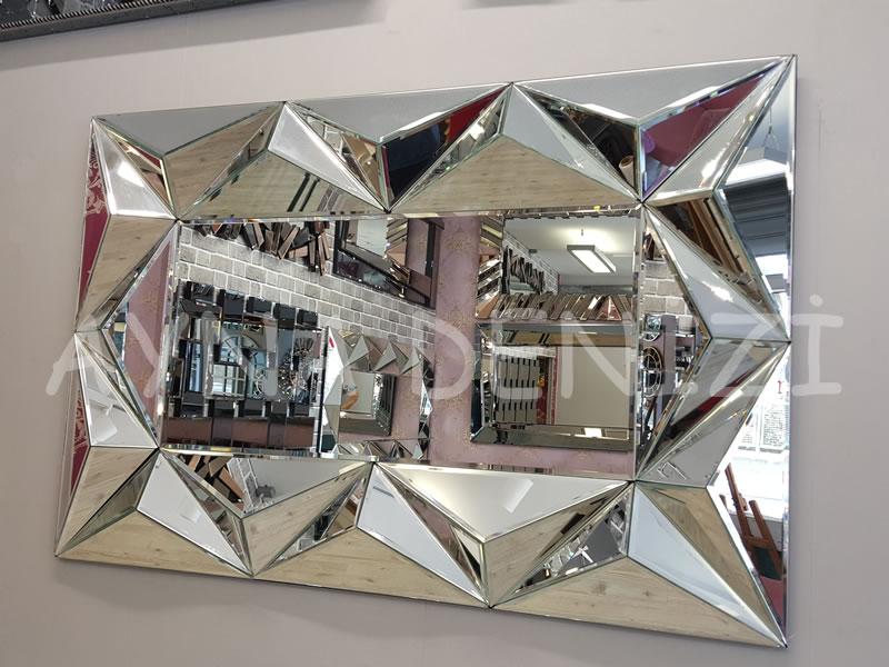 Hipnoz Small Silver Model Modern Ayna