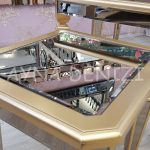 Cenova Model Altın Renk Üçlü Aynalı Zigon Sehpa Takımı-17