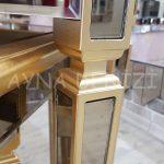 Cenova Model Altın Renk Üçlü Aynalı Zigon Sehpa Takımı-19