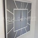 Silver Quare Smoked Model Gümüş Füme Renk Dekoratif Aynalı Duvar Saati-8