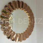 Güneş Golden Bronze Model Altın Bronz Renk Modern Ayna-1