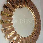 Güneş Golden Bronze Model Altın Bronz Renk Modern Ayna-10