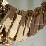 Güneş Golden Bronze Model Altın Bronz Renk Modern Ayna-11