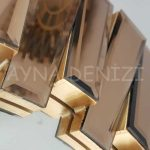Güneş Golden Bronze Model Altın Bronz Renk Modern Ayna-12