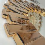 Güneş Golden Bronze Model Altın Bronz Renk Modern Ayna-13