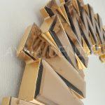 Güneş Golden Bronze Model Altın Bronz Renk Modern Ayna-14