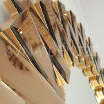 Güneş Golden Bronze Model Altın Bronz Renk Modern Ayna-16