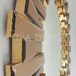 Güneş Golden Bronze Model Altın Bronz Renk Modern Ayna-19