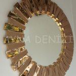 Güneş Golden Bronze Model Altın Bronz Renk Modern Ayna-2